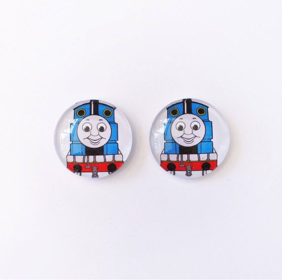 The 'Tank Engine' Glass Earring Studs