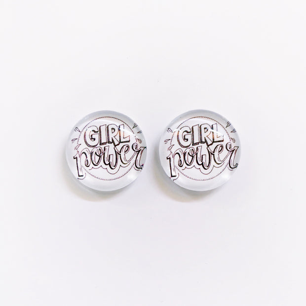 The 'Girl Power' Glass Earring Studs