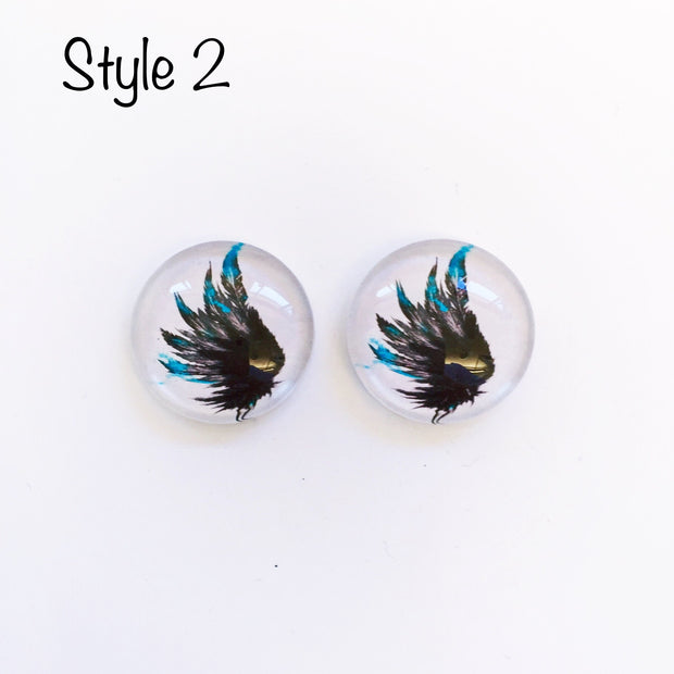 The 'Angel Wings' Glass Earring Studs