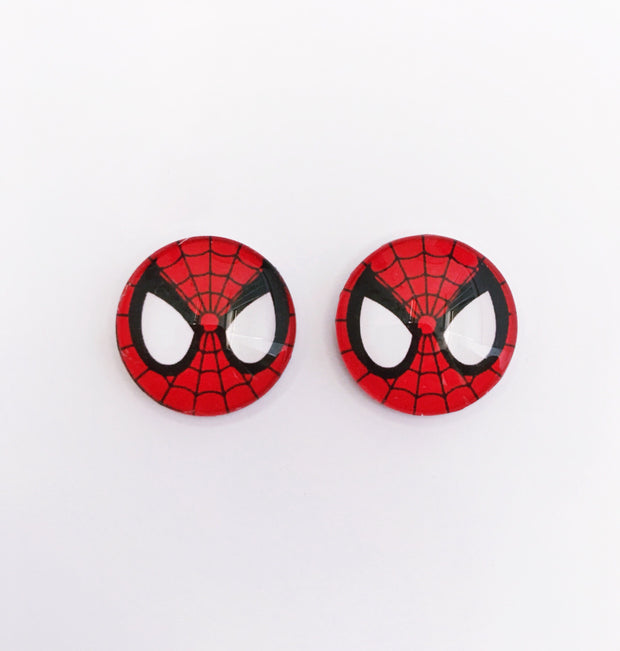 The 'Spiderman' Glass Earring Studs