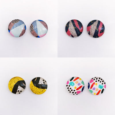 The 'Colour Me Scandi' Glass Earring Studs