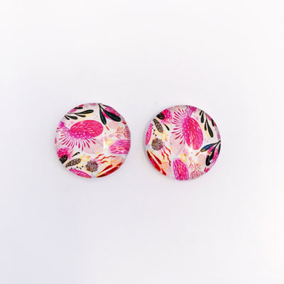 The 'Skyler' Glass Earring Studs