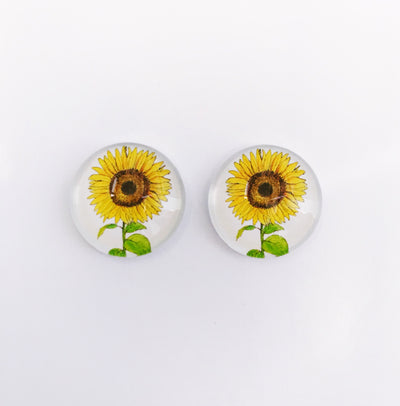 The 'Sunflower' Glass Earring Studs