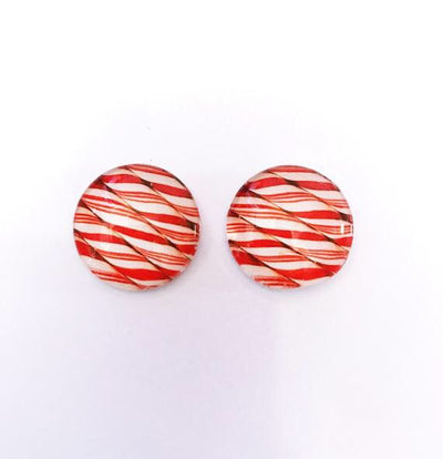 The 'Candy Cane' Glass Earring Studs
