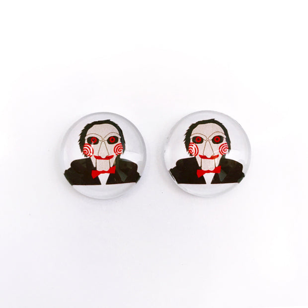 The 'Jigsaw' Glass Earring Studs