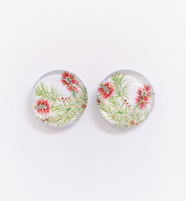 The 'Bottlebrush' Glass Earring Studs