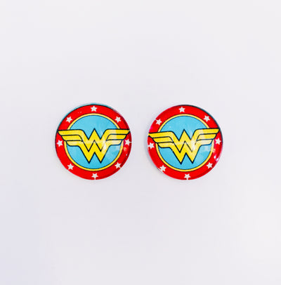 The 'Wonderwoman' Glass Earring Studs