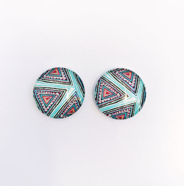 The 'Bellamy' Glass Earring Studs