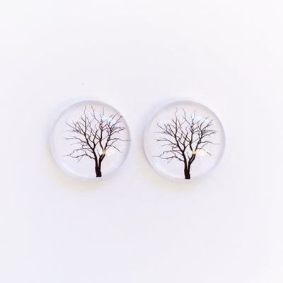 The 'Silent Hill' Glass Earring Studs