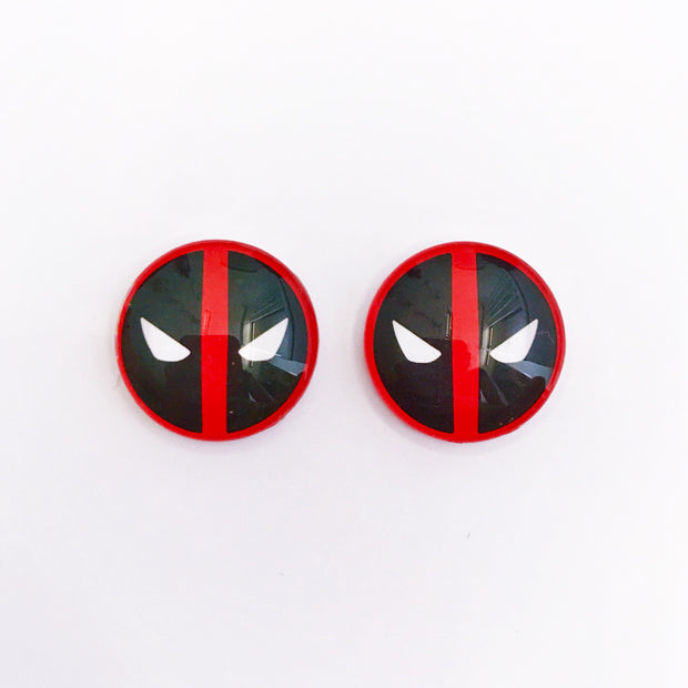 The 'Deadpool' Glass Earring Studs