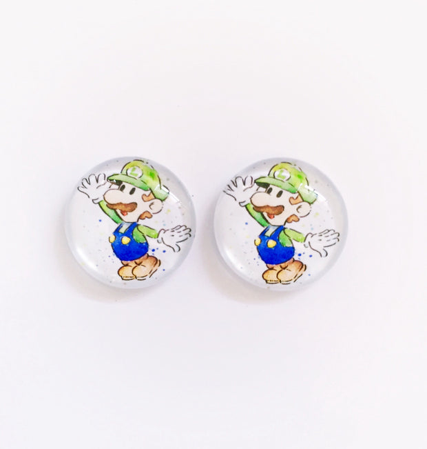 The 'Luigi' Glass Earring Studs