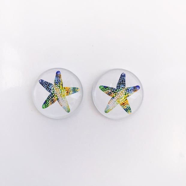 The 'Starfish' Glass Earring Studs