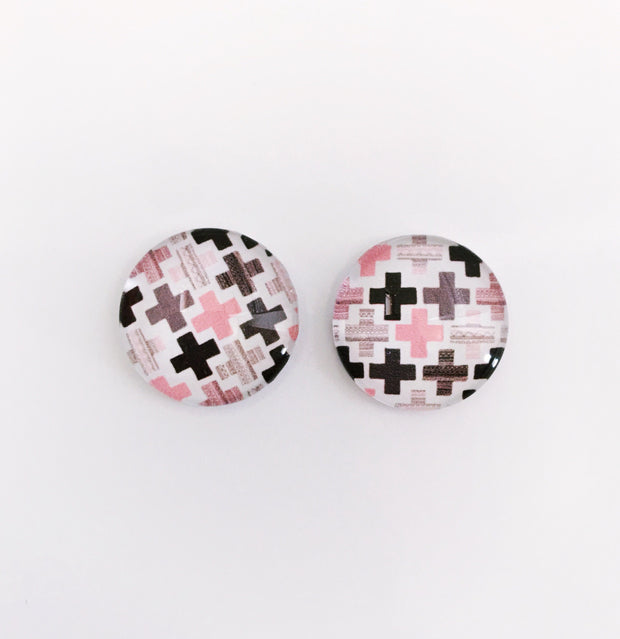 The 'Tiana' Glass Earring Studs