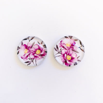 The 'Cara' Glass Earring Studs