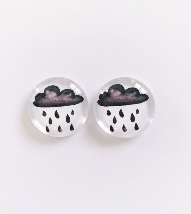 The 'Rainy Days' Glass Earring Studs