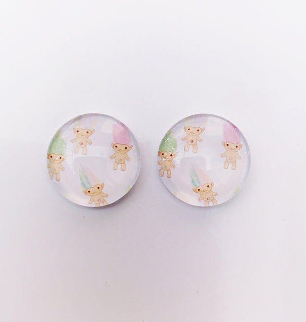 The 'Mini Trolls' Glass Earring Studs