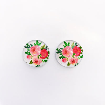 The 'Brittany' Glass Earring Studs