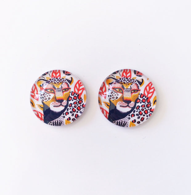 The 'Chasing Cheetahs' Glass Earring Studs
