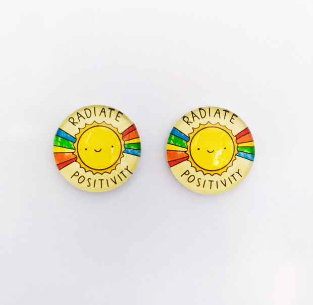 The 'Radiate Positivity' Glass Earring Studs
