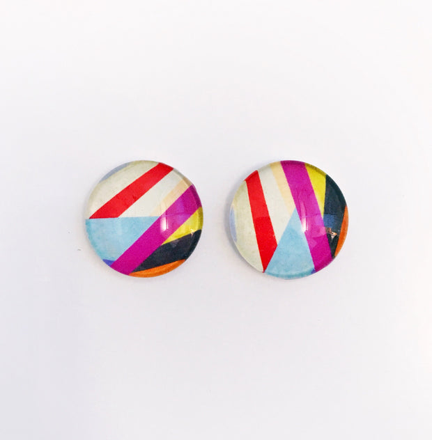 The 'Adalyn' Glass Earring Studs