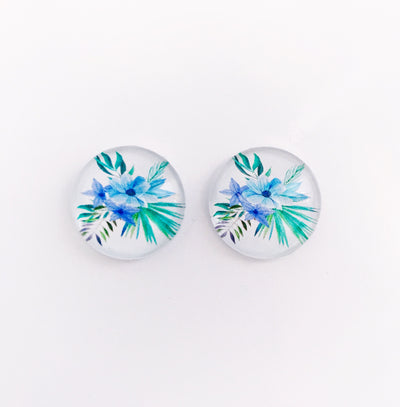 The 'Meg' Glass Earring Studs