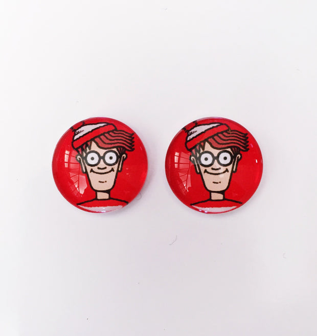 The 'Wally' Glass Earring Studs