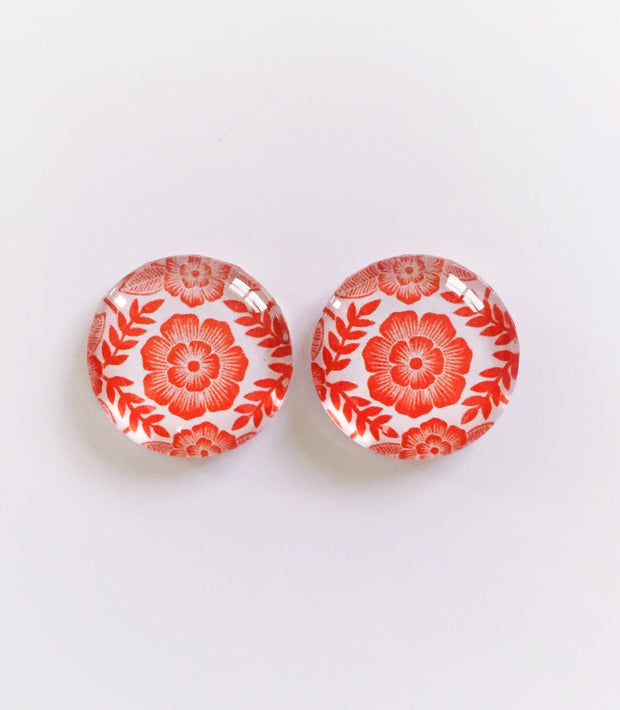 The 'Aurora' Glass Earring Studs