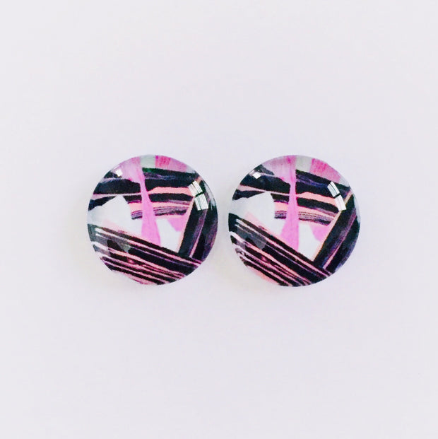 The 'Felix' Glass Earring Studs