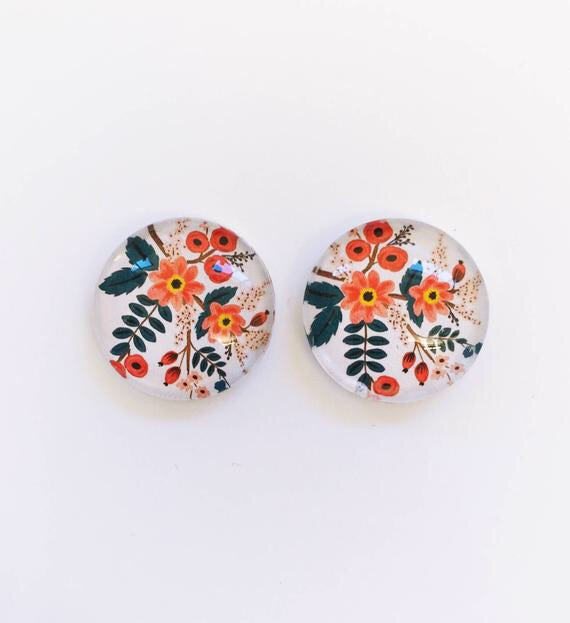 The 'Johanna' Glass Earring Studs
