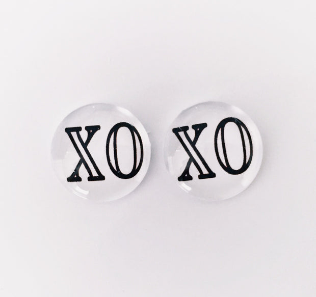 The 'XO' Glass Earring Studs