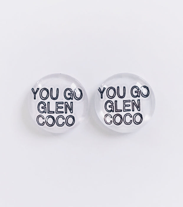 The 'Glen Coco' Glass Earring Studs