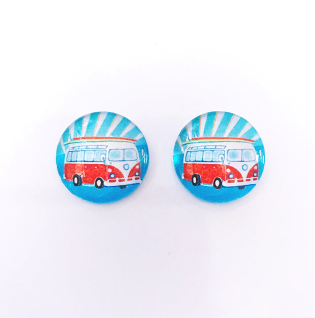 The 'Kombi' Glass Earring Studs