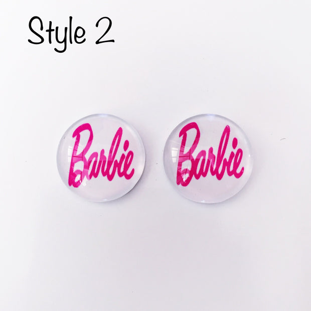 The 'Barbie' Glass Earring Studs