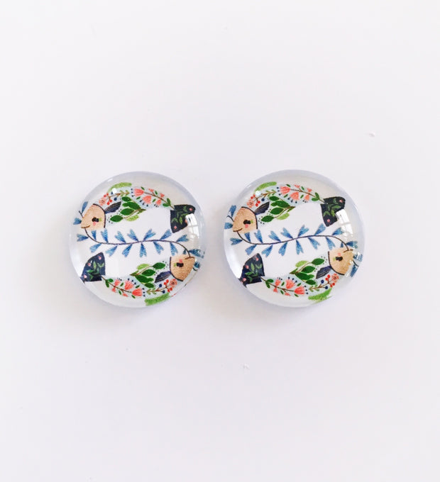 The 'Raina' Glass Earring Studs