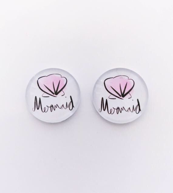 The 'Mermaid' Glass Earring Studs