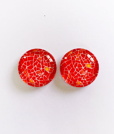 The 'Carey' Glass Earring Studs