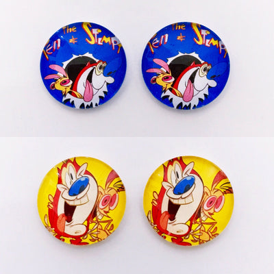 The 'Ren & Stimpy' Glass Earring Studs