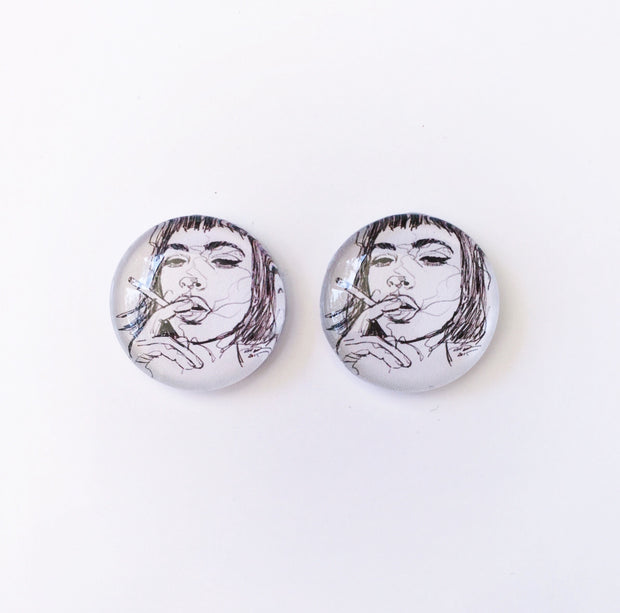 The 'Artist Within' Glass Earring Studs