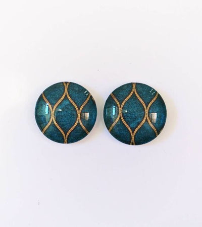 The 'Amelia' Glass Earring Studs