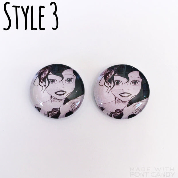 The 'Punk Disney' Glass Earring Studs
