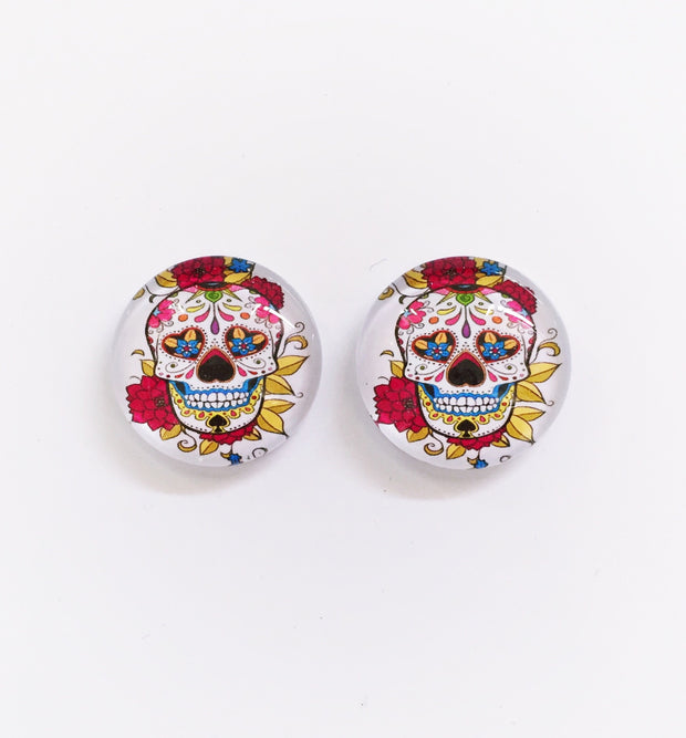 The 'Day Of The Dead' Glass Earring Studs