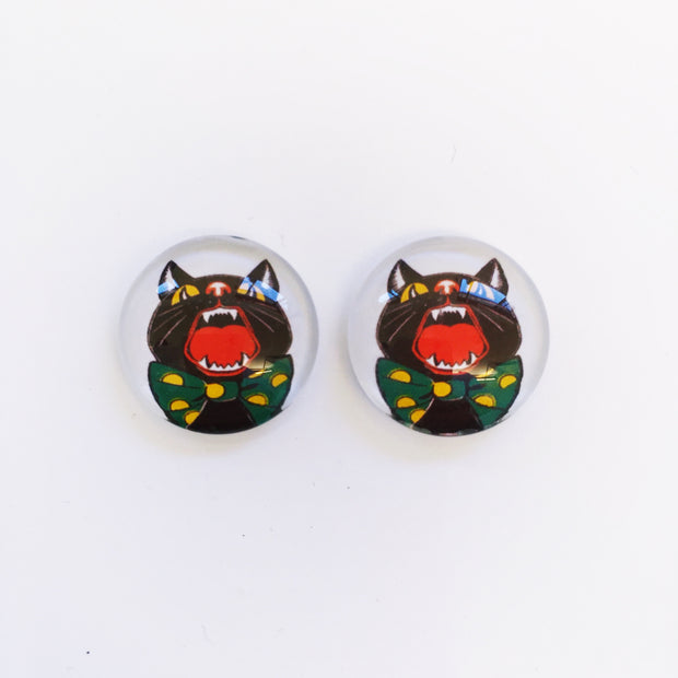 The 'Horror House' Glass Earring Studs