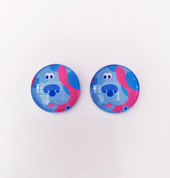 The 'Blue's Clues' Glass Earring Studs
