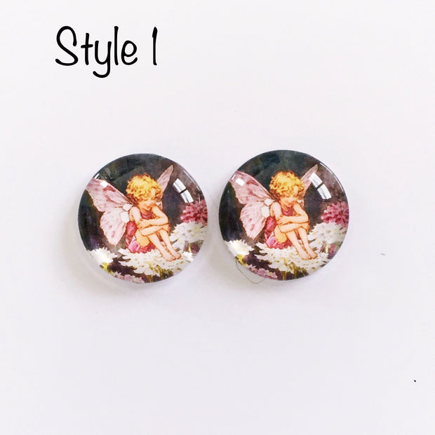 The 'Fairy Land' Glass Earring Studs