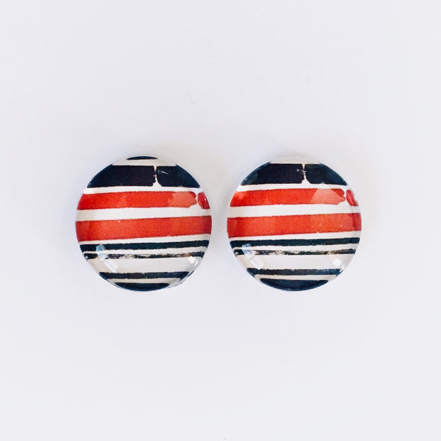 The 'Newspaper' Glass Earring Studs