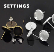 The 'Occult' Glass Earring Studs