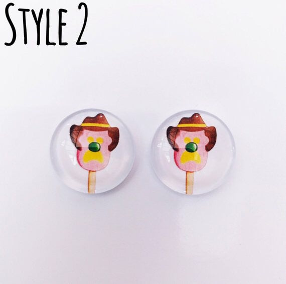 The 'Aussie Classics' Glass Earring Studs