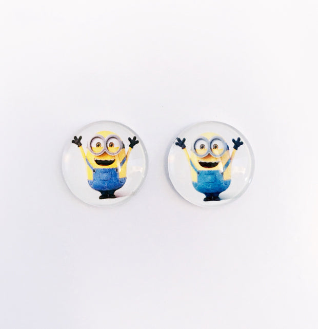 The 'Minions' Glass Earring Studs