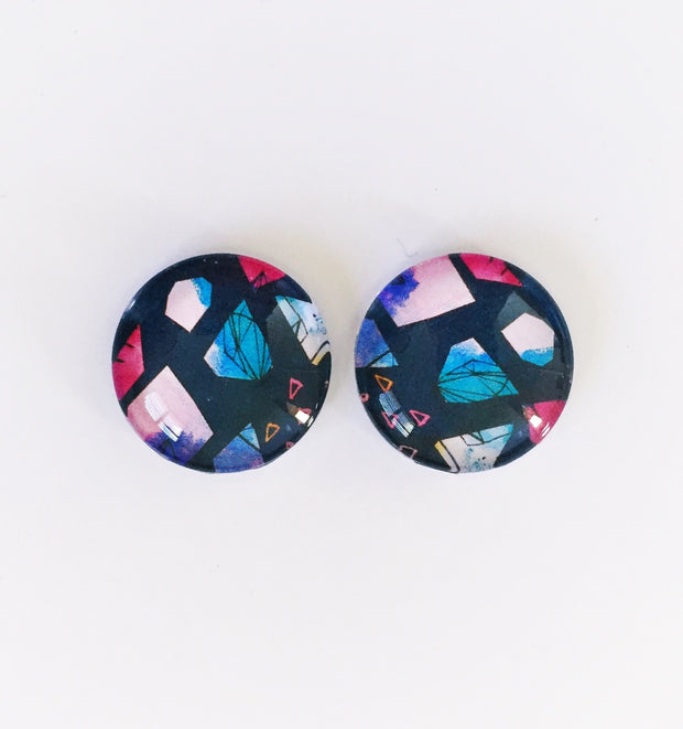 The 'Jane' Glass Earring Studs