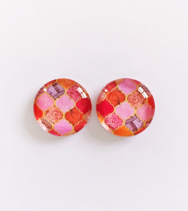 The 'Jessamyne' Glass Earring Studs